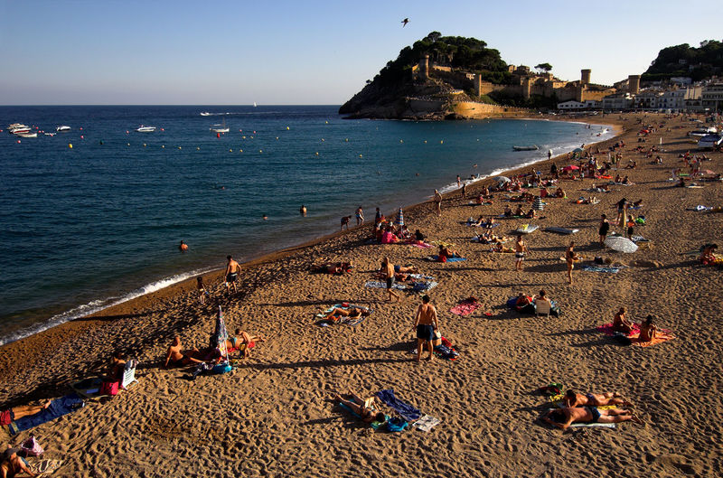 People At Tossa De Mar Beach