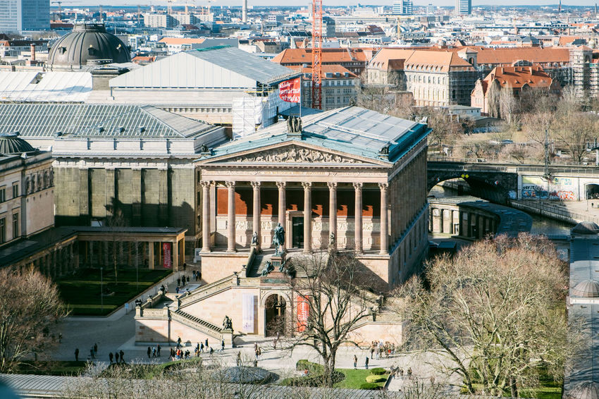 Alte Nationalgalerie Berlin Berlin Dome  Berliner Dom Alte Nationalgalerie Architecture Bridge Building Building Exterior Built Structure City Cityscape Community Connection Day High Angle View House Museum Nature Outdoors Plant Residential District Roof Travel Destinations Tree