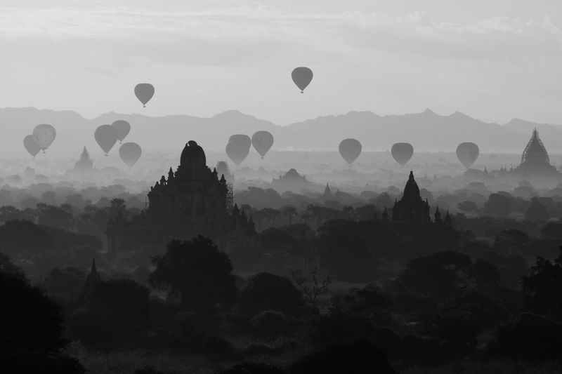Religion Architecture Silhouette Spirituality Place Of Worship Hot Air Balloon Built Structure Outdoors Building Exterior Ancient Nature Travel Destinations Mountain Ancient Civilization Flying Beauty In Nature Day Temple Landscape Black And White Monochrome EyeEm Best Shots Check This Out in Bagan , Myanmar MISSIONS: The Great Outdoors - 2017 EyeEm Awards The Architect - 2017 EyeEm Awards The Photojournalist - 2017 EyeEm Awards The Great Outdoors - 2018 EyeEm Awards The Traveler - 2018 EyeEm Awards The Architect - 2018 EyeEm Awards The Traveler - 2018 EyeEm Awards Capture Tomorrow