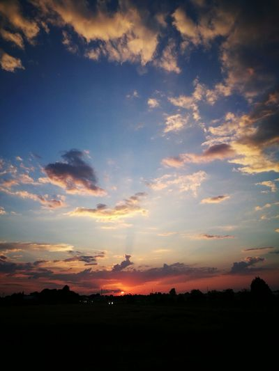 Sunset Dramatic Sky Cloud - Sky Nature Landscape Morning Tranquility Beauty In Nature Outdoors No People
