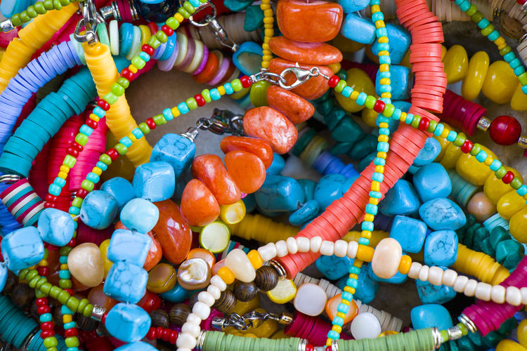 Full frame shot of multi colored candies for sale
