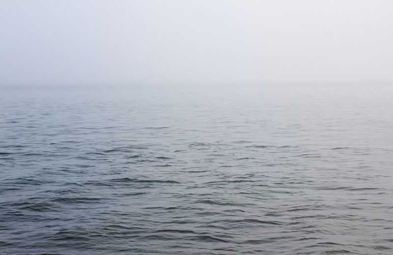 Sea Water Beauty In Nature Tranquility Scenics - Nature Tranquil Scene Horizon Fog Waterfront Rippled Day Outdoors Nature Horizon Over Water Seascape