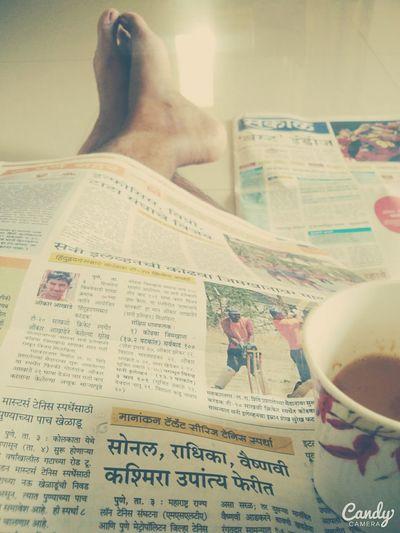 Morning Morningtea Goodmorning Newspaper Mobilephotography Mi4photography