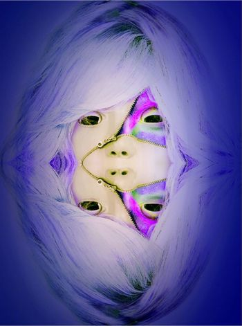 Purple Portrait Fashion Make-up Pink Color Young Women Dyed Hair One Person Indoors  Young Adult Day Maniquie Imagination Brain Stimulation Technology Faces Of EyeEm ADHDAwareness Dj Music Digitally Generated Cd Cover Trancemusic Fantasy Electricity  Science