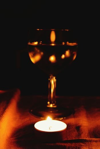 By Candlelight Glass Reflection Light And Shadow Depth Of Field