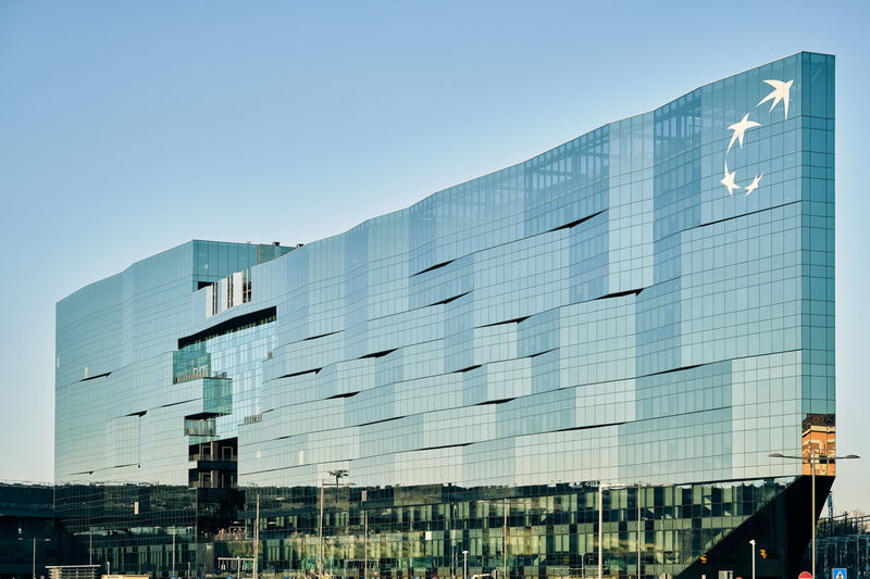 Built Structure Building Exterior Architecture Modern Glass - Material City Sky Clear Sky Office Office Building Exterior Building No People Reflection Nature Day Low Angle View Blue Outdoors Business Copy Space Skyscraper