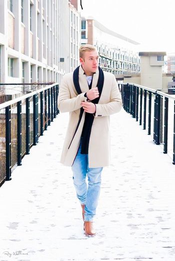 Classy Man on The Bridge Style And Fashion Dapper Classy Man Young Women Standing Blond Hair Portrait Day Adult Outdoors