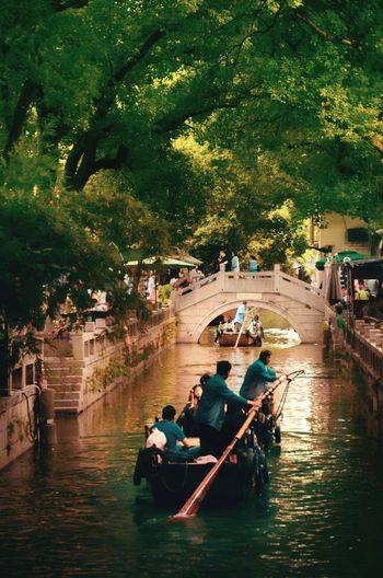 Water Nautical Vessel Tree Adult People Outdoors Nature Travel Destinations Women Real People Men River Rowing Gondola - Traditional Boat Adults Only Day Tourism