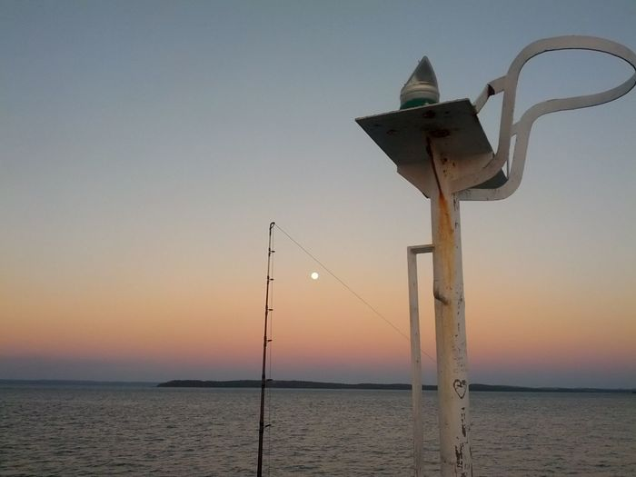 The Purist (no Edit, No Filter) Fishing between Sunset and Moonrise at Hervey Bay, Australia