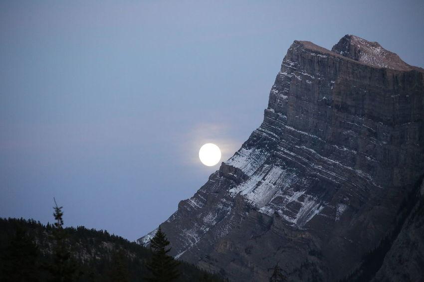 Mountains Hikingadventures Hiking Alberta Canada Alberta Moonlight Night Photography Summit Ice Capped Mountains National Park Nature