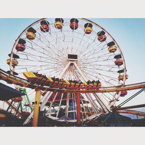 Taking Photos Phtography Roller Coaster Santa Monica Pier