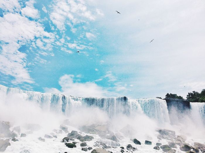 Waterfall Nature Water Niagara Falls Power In Nature