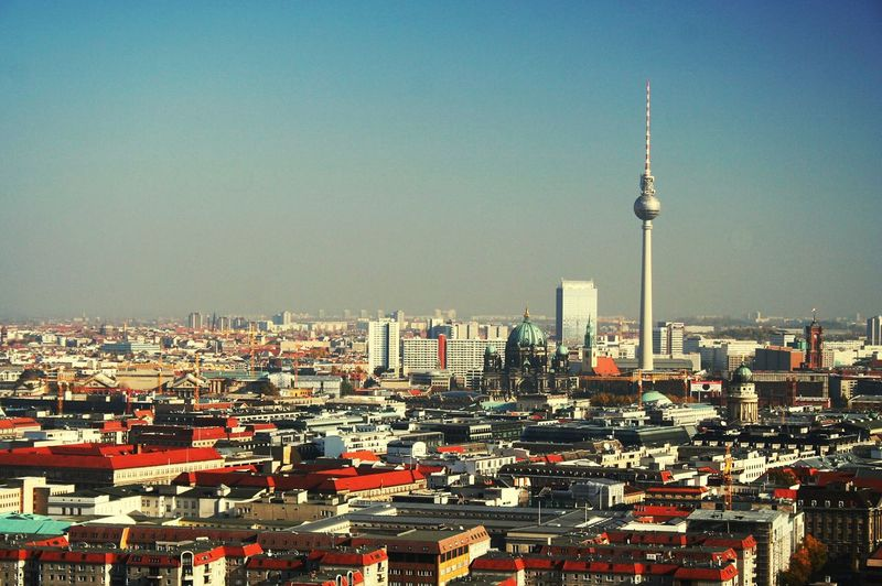 Berlin Berliner Ansichten Berlin Mitte City Cityscapes City Life Cityscape Hallo World World TV Tower Fernsehturm Fernsehturm Berlin  Traveling Travel Clear Sky Germany