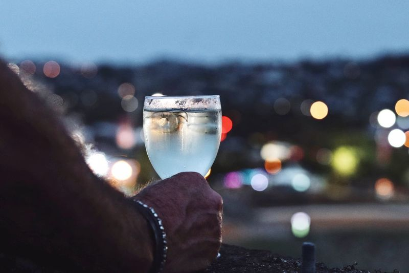 A toast to new beginnings ❤️ Photography Photooftheday Wine Human Hand Real People One Person Holding Human Body Part Focus On Foreground Drink Wristwatch People City Lifestyles Outdoors
