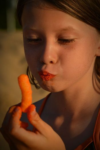 Evening Evening Sun Beach Photography Lake Michigan Beach Life Beautiful Day Beachlovers Evening Light Evening Glow Michigan Beach Time Daughter Children Photography Family Photography Cheese Puffs Orange Lips  Messy Fingers Child Snack Close-up Enjoying Food Facial Expressions Colour Of Life Uniqueness Rethink Things