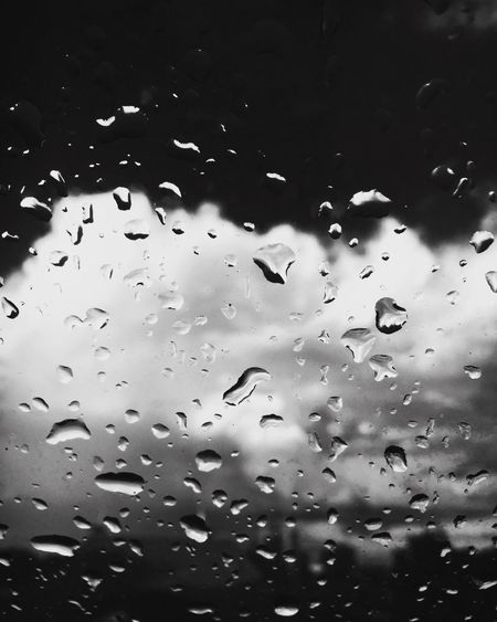 Clouds And Sky Blackandwhite After The Rain Look Outside Rain Raindrops Window Weather Black And White Blackandwhite Photography Black & White