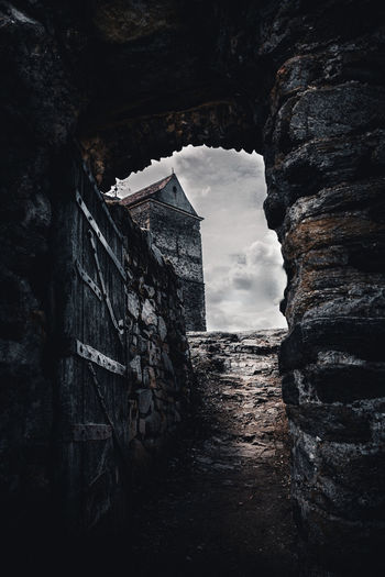 Time Portal Architecture Built Structure Building Building Exterior History The Past Old No People Day Abandoned Sky Wall Nature Wall - Building Feature Solid Low Angle View Rock Stone Wall Rock - Object Outdoors Deterioration Ruined Sibiu Romania Explore Discover  Travel Nikon D7500 Fortress Castle Historical EyeEm Best Shots EyeEm Selects