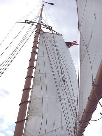 Flag Mast Nautical Vessel Rigging Sailboat Sky