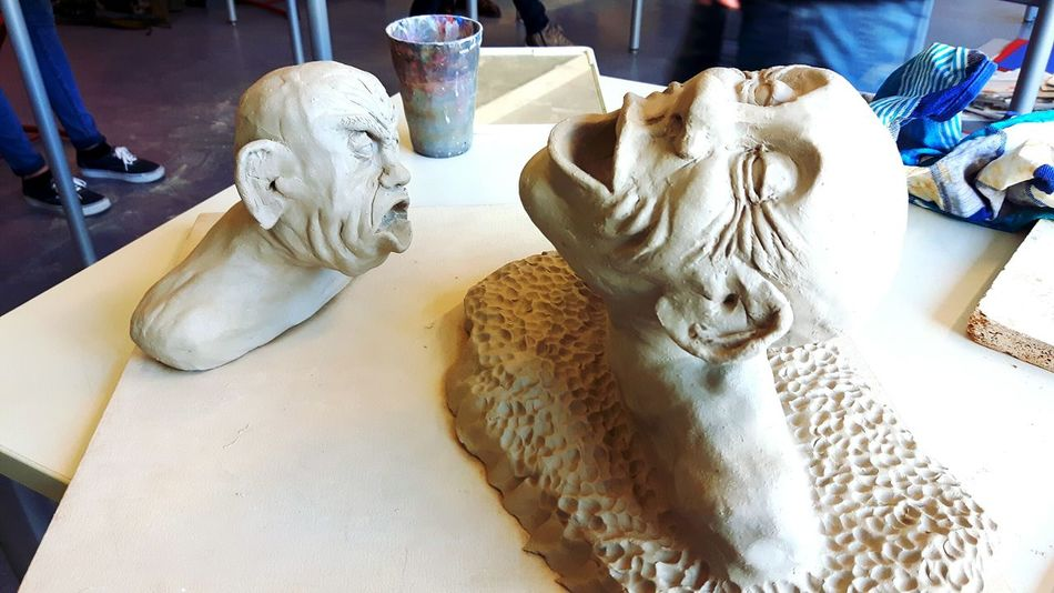 photo of my sculptures for the art finals, i got 14/15 points :) EyeEm Selects Sculpture Indoors  Statue Clay Art Art Photography Artclass Art Class Abitur Abitur2017 Bildendekunst Kunst My Art My Artwork Art Project Finals Bust  Photography The Week On EyeEm Aesthetics Aesthetic Statue ArtWork Facial Expression One Step Forward EyeEm Ready   The Still Life Photographer - 2018 EyeEm Awards