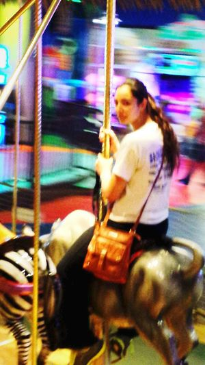 Carousel Blurry Noble Steed