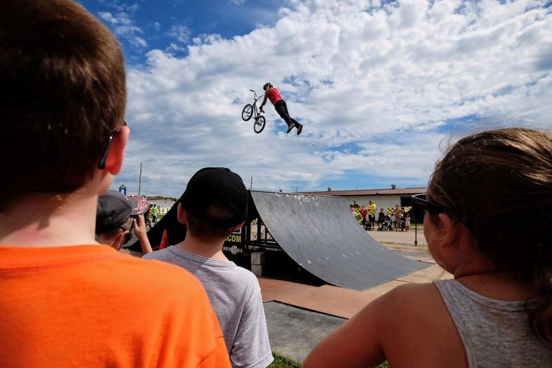 Nowear BMX Team Nebraska State Fair September 1, 2018 Grand Island, Nebraska Camera Work Check This Out Composition Event EyeEm Best Shots FUJIFILM X-T1 Fujinon 10-24mm F4 Getty Images Grand Island, Nebraska Nebraska State Fair NowearBMX Photojournalism Stunt Action Adult Bicycle Bmx  Cloud - Sky Day Extreme Sports Eye For Photography Eyeforphotography Freestyle Group Of People Headshot Leisure Activity Lifestyles Men Mid-air Motion Nature Outdoors People Portrait Real People Rear View S.ramos September 2018 Skill  Sky Spectator Sport Stunt Tricks Young Men
