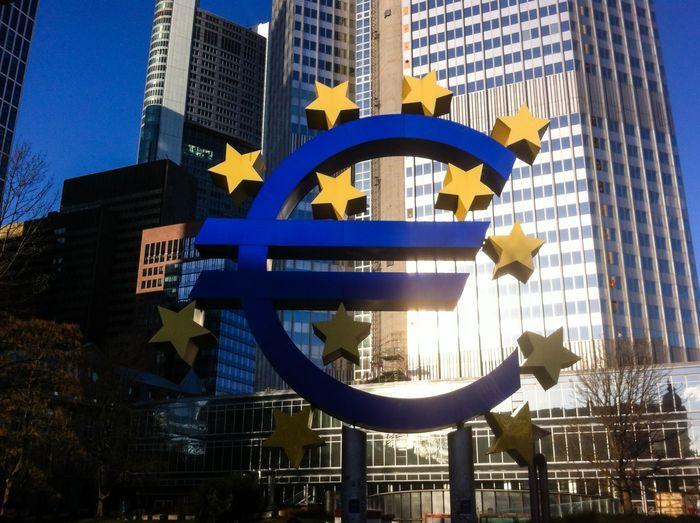 Eyeem Market EZB European Central Bank Europe Euro Euro Sign € € Sign Money Bank
