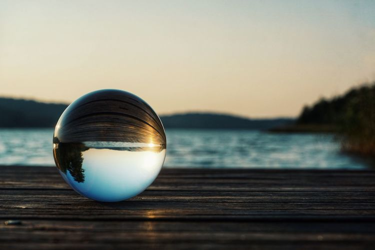 2019 Niklas Storm Juni Water Sunset Backgrounds Reflection Crystal Ball Close-up Sky Crystal Crystal Glassware My Best Photo The Great Outdoors - 2019 EyeEm Awards