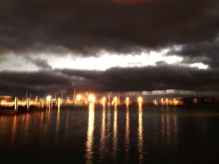 Night Photography Water At Night Sea Sea And Light Lights Over Water Blurry Blurry Lights Long Exposure