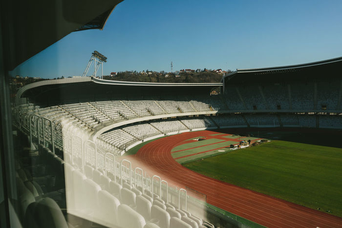 Day Football Fever Football Stadium No People Soccer Field Soccer⚽ Sport Stadium Stadium In The Morning