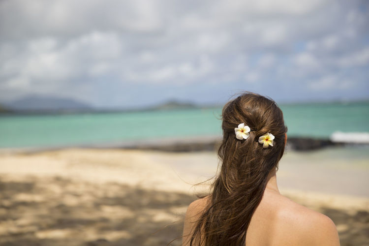 women with flowers in hair, hawaii, oahu First Eyeem Photo
