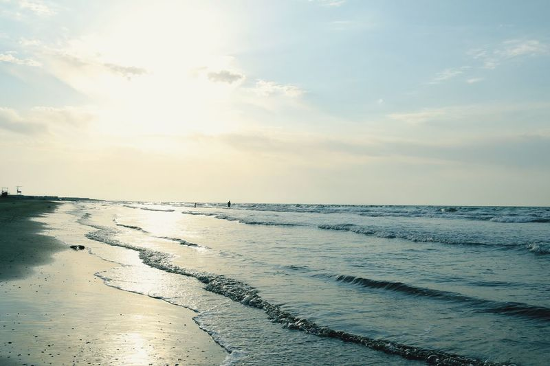 Sea Water Beach Scenics Horizon Over Water Beauty In Nature Sky Nature Tranquil Scene Shore Sand Idyllic Sunset Outdoors Sun Cloud - Sky No People Wave Day