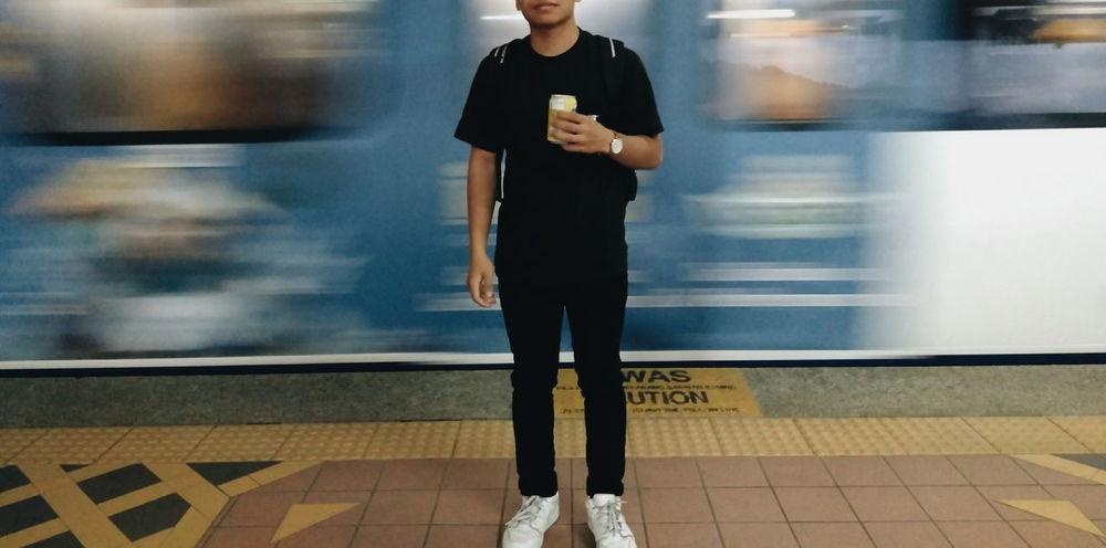 Train Station Waiting For The Train Waiting Area Boy Black Back To Hometown Kuala Lumpur Malaysia