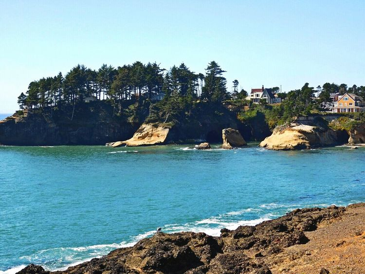 Isn't it beautiful? Depoe Bay Oregon Tranquility Nikon_photography ToolWiz Photos Photo Editor My Photo Album ♡