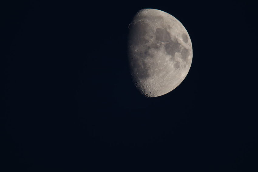 Astronomy Beauty In Nature Black Background Copy Space Galaxy Half Moon High Resulution Moon Moon Surface Nature Night No People Outdoors Planetary Moon Sigma150-600c Sky Space Space And Astronomy 1.4tc No Edit/no Filter No Filter, No Edit, Just Photography