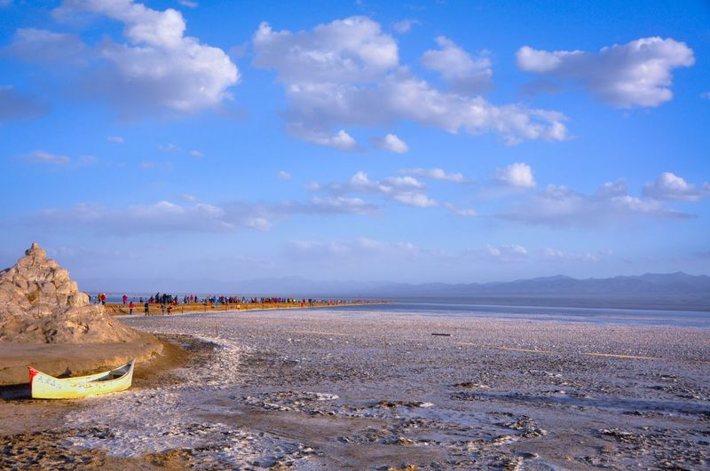 The KIOMI Collection Sand & Salts Salt Lake Travel Photography at North West Of China Blue Sky