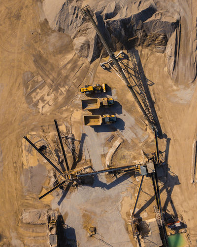 High Angle View Construction Industry Machinery Industry Construction Site Nature Day Development Technology Transportation Outdoors Construction Machinery Bulldozer Industrial Equipment Drone  Dronephotography Drone Photography Droneshot Drones Roadworks Working Hard