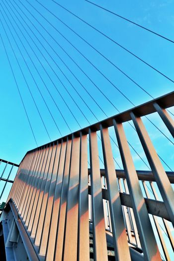 Architecture Built Structure Low Angle View Building Outdoors Metal Modern Connections Railing Structure