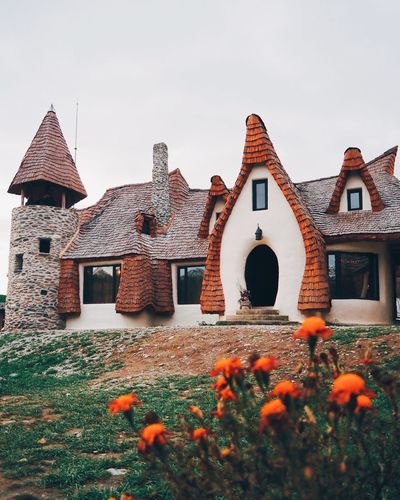 Clay Castle, The Valley Of The Fairies-Transilvania, Romania, Winter, Castle Transylvania Romania EyeEm Selects Building Exterior Architecture Built Structure House No People Outdoors Day Flower Sky Nature Grass Beauty In Nature