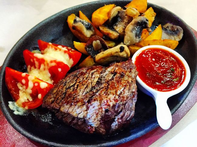 Filet Steak in Adler, Sochi, Russia Food Steakhouse Steak Dinner Restaurant Foods Medium Filet Beef Rare Well Done