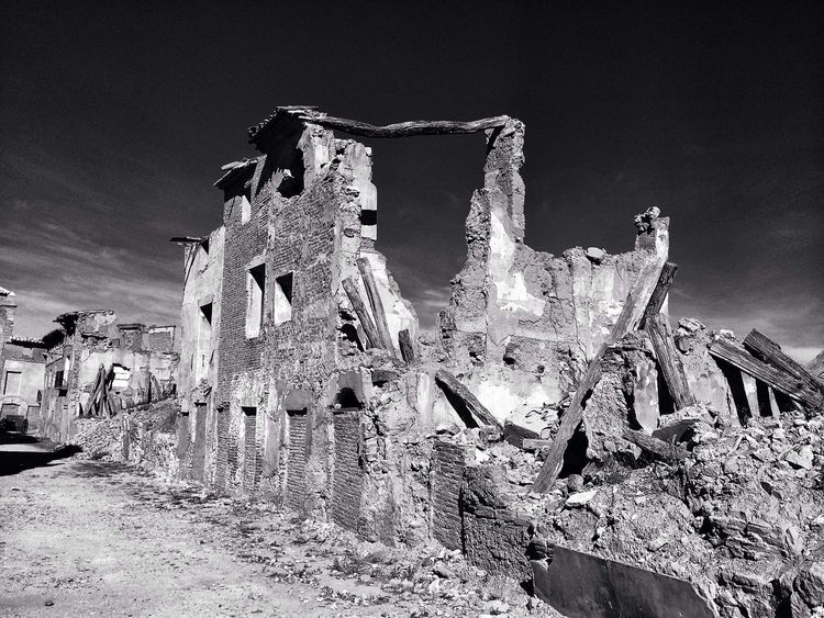 Ruinas de Belchite Viejo.