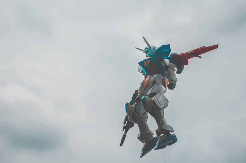 Sky is not your limit! Gundam Gundamcollection Gundam Model Gunpla BANDAI Toy Toyphotography Robot Sky Cloud - Sky Sky And Clouds Flying Fly Flying High Cold Temperature Flight Blue