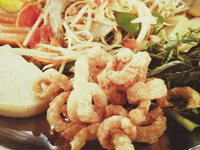Food And Drink Food No People Indoors  Ready-to-eat Freshness Close-up Healthy Eating Day หนังหมู ตำถาด