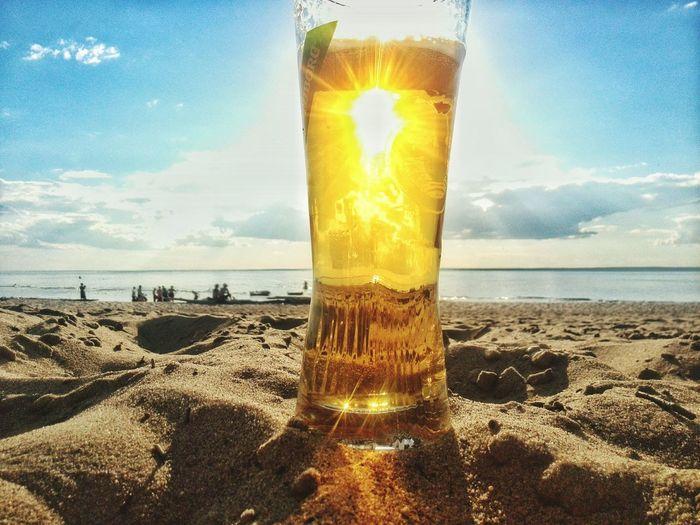 43 Golden Moments Beer Sunset Sand Goldlight Fine Art Photography