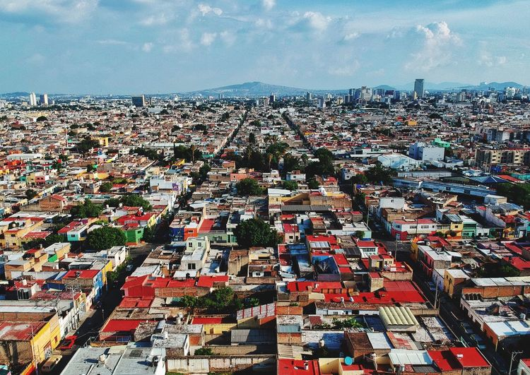 Streets Buildings Dronephotography Drone  Jalisco Guadalajara Building Exterior Architecture Built Structure Sky Cityscape City Cloud - Sky Day Building High Angle View