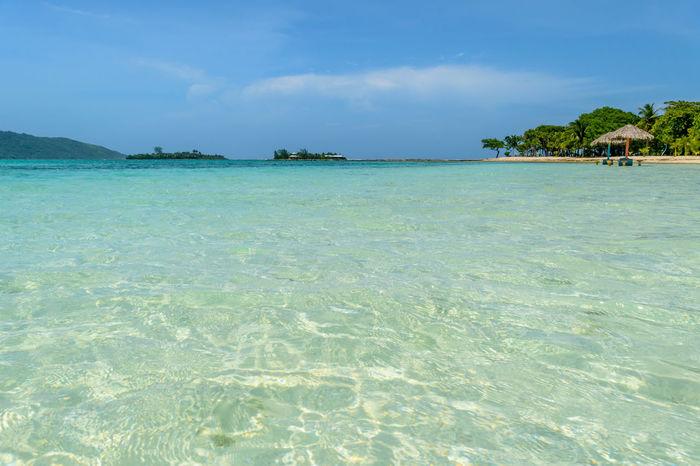 Turquoise water Guanaja Beach Idyllic Island Outdoors Sea Tourquise Sea Tranquility Travel Destinations
