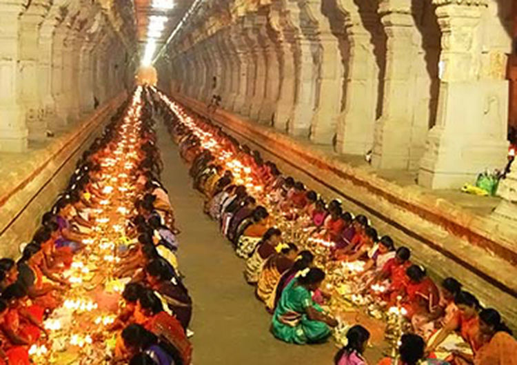 It is a feast at temple corridor. People