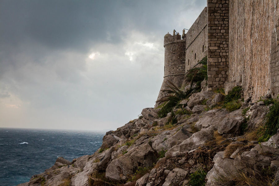#castle  #citywalls #croatia #dubrovnik Architecture Nature No People Outdoors Sea