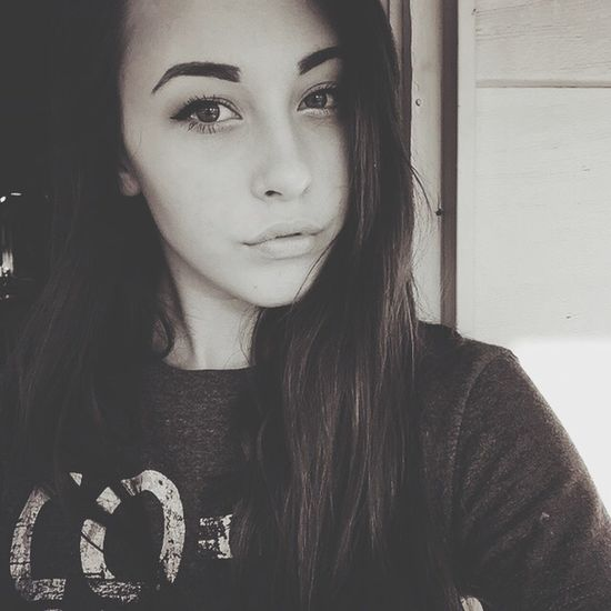 Black And White Selfportrait That's Me Eyebrows On Fleek