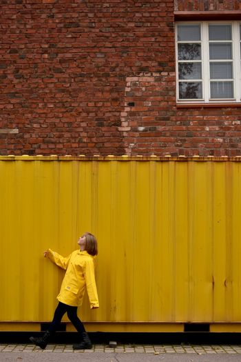 Yellow, Helsinki 30.9.2017 with Nikon D7200 Bright Colors Busy Day Cityscape Colors Helsinki Nikon Nikon D7200 Color Potrait  Nikonphotography One Person People Raincoat Urban Yellow Yellow Raincoat Yellow Themes Paint The Town Yellow