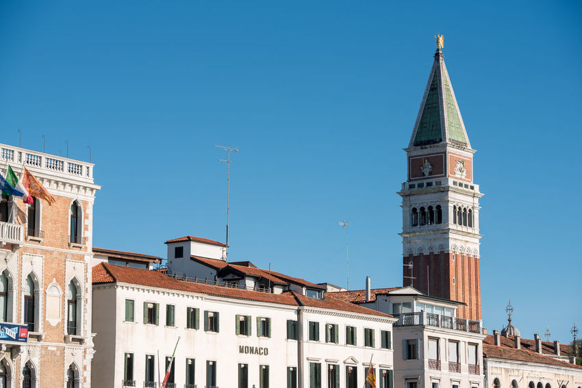Venice, Italy Architecture Blue Building Exterior Built Structure City Clear Sky Day Low Angle View No People Outdoors Place Of Worship Religion Sky Spirituality Venice